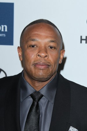 Photo for LOS ANGELES - FEB 11: Dr. Dre arrives at the Pre-Grammy Party hosted by Clive Davis at the Beverly Hilton Hotel on February 11, 2012 in Beverly Hills, CA - Royalty Free Image
