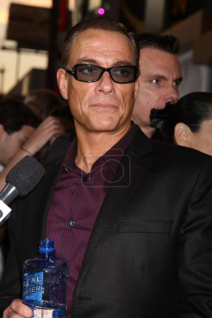 """Photo for Los Angeles - AUG 15: Jean-Claude Van Damme arrives at the """"The Expendables 2"""" Premiere at Graumans Chinese Theater on August 15, 2012 in Los Angeles, CA - Royalty Free Image"""