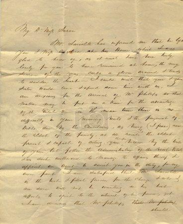 Photo pour Lettre ancienne du milieu du XIXe siècle - image libre de droit