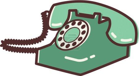 Photo pour Illustration d'un téléphone rétro - image libre de droit