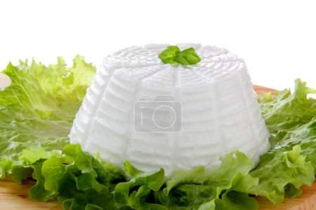 Italian ricotta, green salad end basil