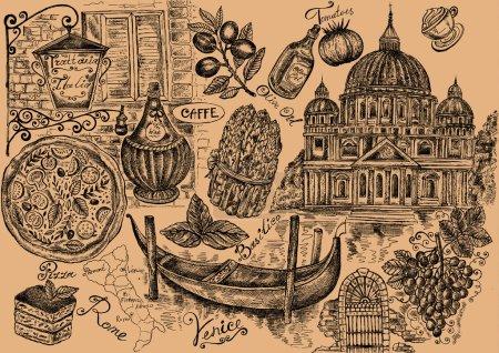 Photo pour Gravure détaillée (dessin à la main). Conception de menus - image libre de droit