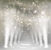 Light Christmas Stage Spotlight with snowflakes