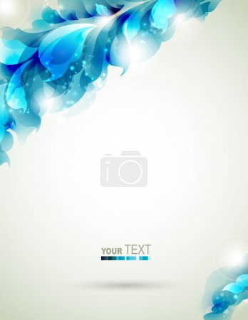 Abstract blue element for design