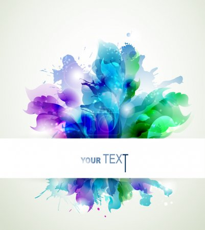 Illustration for Abstract background with blue, pink and green elements - Royalty Free Image