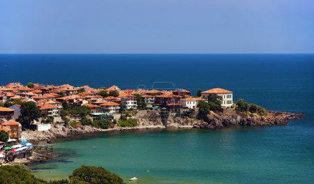 Village on a sea coast