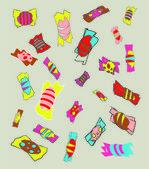 Lot of colorful bonbons