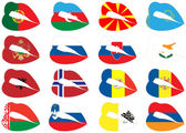 Lips on flags