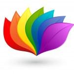 Nature design element in rainbow colors...