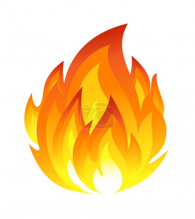 Illustration for Symbol of fire - Royalty Free Image