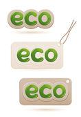 Sada štítků eco znamení