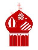 Kopule pravoslavný katedrální chrám. vektorové ilustrace
