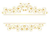 Vintage frame in gold Symmetric inward Vector-Illustration