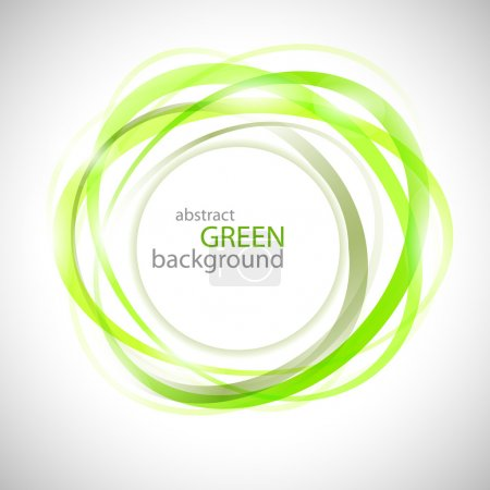 Illustration for Abstract green rings vector background - Royalty Free Image