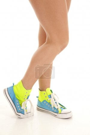 Shoes lime green