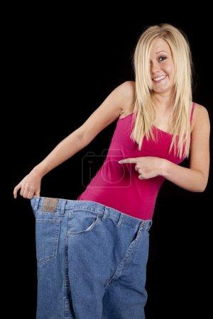 Big pants hold back smile