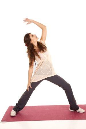 Yoga red mat pose