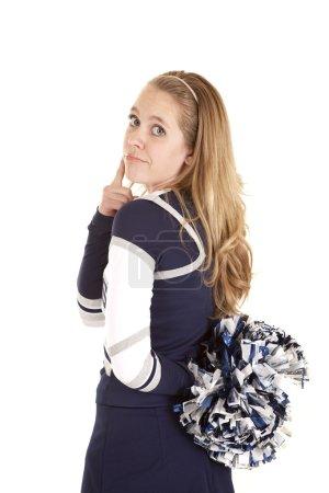 Cheerleader back think