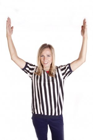 Female referee call touchdown