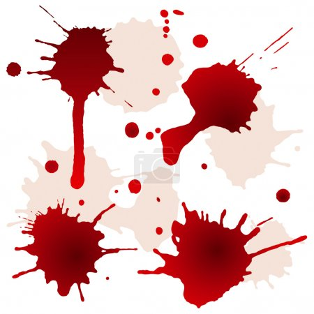 Splattered blood stains. Vector illustration...