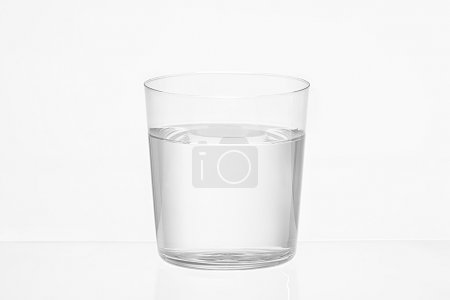 Photo for Transparent glass of water on white background - Royalty Free Image