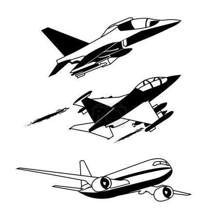 Black plane contour
