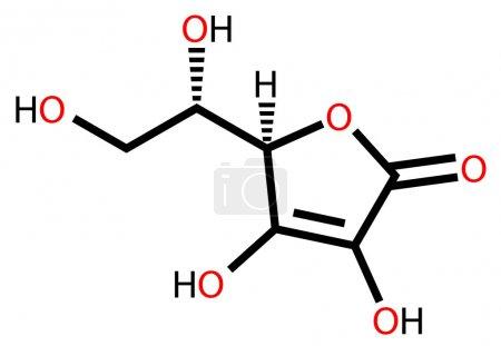 Ascorbic acid structural formula