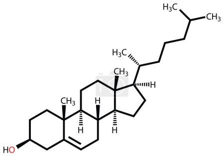 Cholesterol structural formula