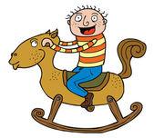 Boy & Rocking Horse