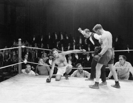 Photo pour Match de boxe - image libre de droit