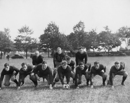 Photo for Football team in field - Royalty Free Image
