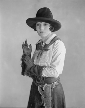 Portrait of cowgirl
