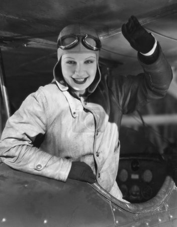 Portrait of female pilot