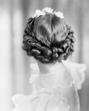 Photo for Closeup of curls on back of womans head - Royalty Free Image