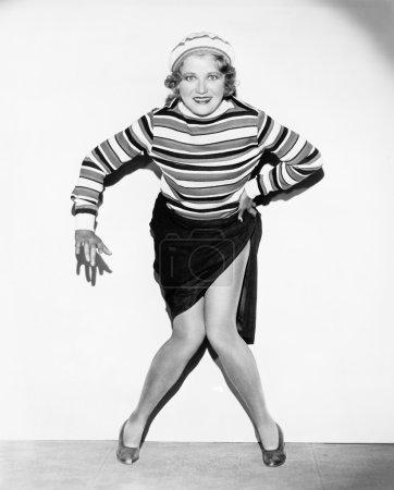 Portrait of woman dancing