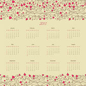 Vintage retro calender of 2013 new year vector eps 8