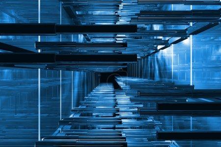 Photo pour Futuriste bleu espace technique disponible pour le fond - image libre de droit