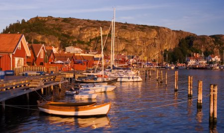 Beutiful village by the swedish west coast