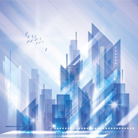 Illustration pour Résumé Scène urbaine en hiver - image libre de droit